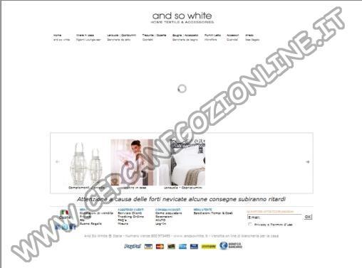 And So White Vendita online di Biancheria da letto