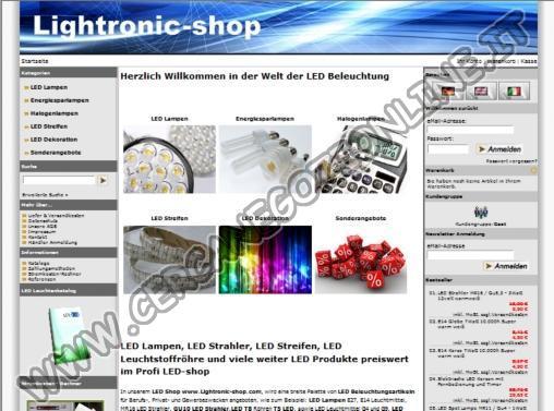 Lightronic - Online Shop